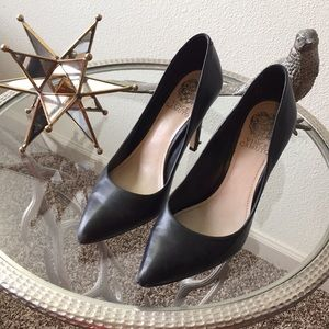 Black Leather Vince Camuto Heels